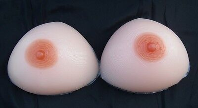 Size 7 Triangular Silicone Breast Forms/Mastectomy Bra Inserts,Model 7F