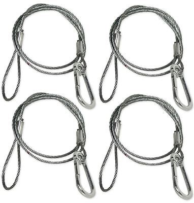 """4) Chauvet CH-05 31"""" Inch Safety Clamp Lighting Cable Wires - Up To 700 LBS CH05"""