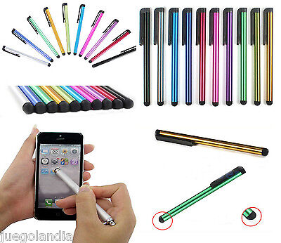 10 Unidades Lapiz Puntero Tactil Stylus Para Tablet Iphone Ipad Samsung Galaxy