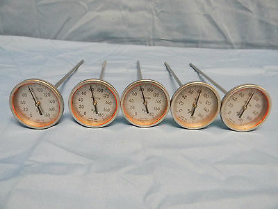 (5) Weston 2261 Stainless Steel Imersion Thermometers 0-180°F / 2° Inc.