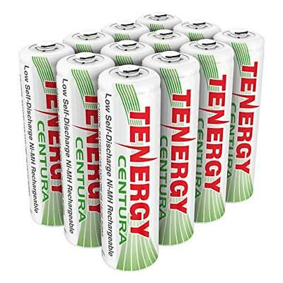 Tenergy 12pcs Centura AA 2000mAh Low Self Discharge NiMH Rechargeable Batteries