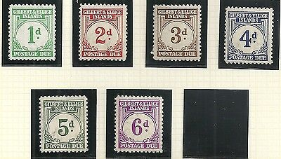 Gilbert&Ellice Islands stamps 1940 collection of 6 DUE stamps  ATTRACTIVE!