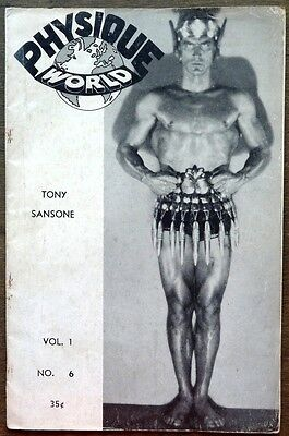 Physique World Manly Arts vintage Beefcake Gay interest magazine Vol 1 No 6