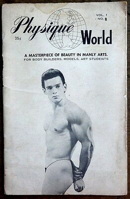 Physique World Manly Arts vintage Beefcake Gay interest magazine Vol 1 No 8