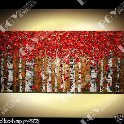 Modern Large Wall Decor 100% artist hand-painted Oil Painting canvas (NO frame)D
