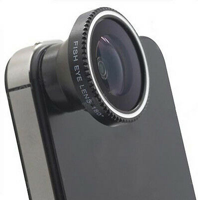 Magnetic JT12 Wide 180°Detachable Fish Eye Lens for iPhone 4 4G 4S Cell Phone