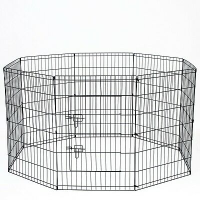"""36"""" Tall Wire Fence Pet Dog Folding Exercise Yard 8 Panel Metal Playpen"""