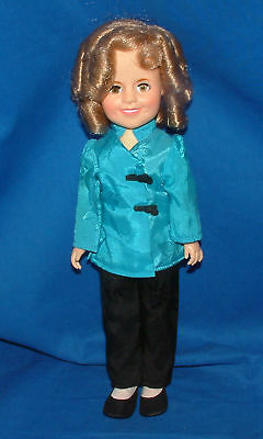 """Ideal Doll,Vintage,  Shirley Temple, in a Blue Kimono  12"""" lot1142"""
