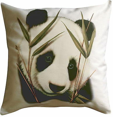 Panda Solo Themed Cotton Cushion Cover - Perfect Gift