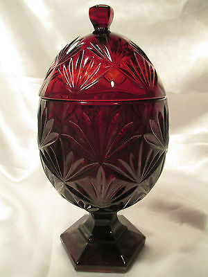 Ruby Red Glass Candy Bowl/Cup