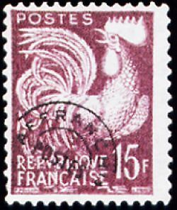 """FRANCE PREOBLITERE TIMBRE STAMP N°112 """"TYPE COQ GAULOIS 15F """" NEUF (x) TB"""