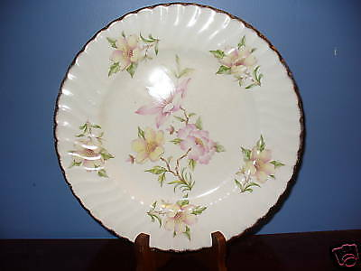 Royal Crown Staffordshire Floral Buffet Plate England