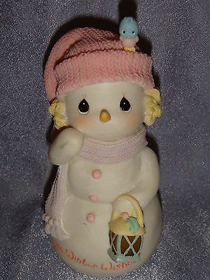 Precious Moments - Light-Up Resin Figurine - WARM WINTER WISHES - Snowgirl