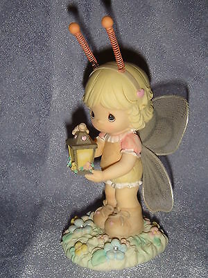 Precious Moments - Resin Figurine - Butterfly Girl Holding a Lantern - 2003
