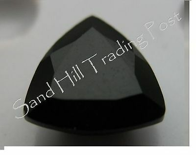 Natural 7mm Trillion 1.01ct Faceted Black Onyx AAA