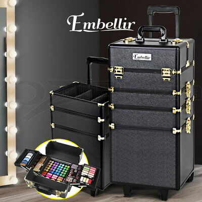 7 In 1 Professional Cosmetics Beauty Case Bags Makeup Box Organiser Trolley