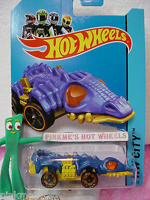 Case C 2014 Hot Wheels FANGSTER #53 US Team☆Blue/Yellow☆Secret TREASURE HUNT