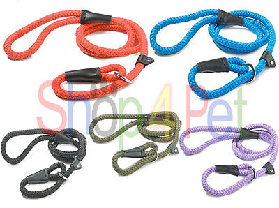 Dog Lead - Dogs / Puppy Strong Nylon Rope Slip Lead by Sharples n Grant