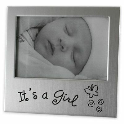 "5"" x 3"" It's A Baby Girl Photo Frame Gift Baby Shower Occasion Present"