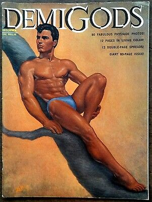 DEMI GODS vintage Beefcake Gay interest magazine Dec 1962