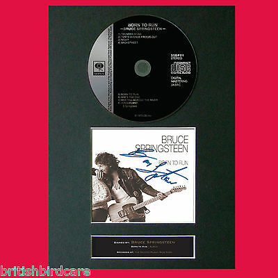 BRUCE SPRINGSTEEN Born to Run Album Signed CD DISC MOUNTED A4 Autograph RePro 42