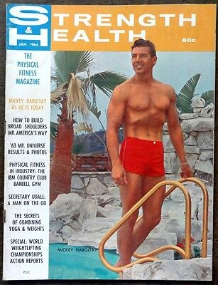 STRENGTH & HEALTH vintage Beefcake Gay interest magazine Jan 1964