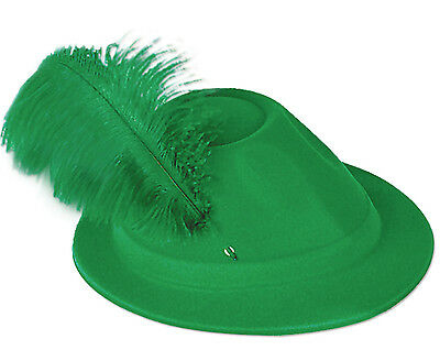 12 PK St. Patricks Day Irish Green Alpine with Feather Medium-small size 8520/12