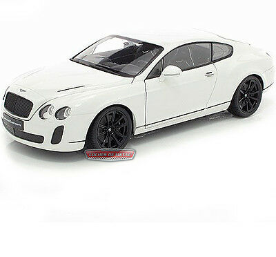 2010.- BENTLEY CONTINENTAL SUPERSPORTS Blanco (WELLY 18038W) Escala 1:18.