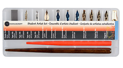Manuscript Student Artist Set Dip Pen Holder Calligraphy Nibs Mapping Poster 282