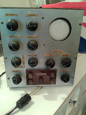 VERY EARLY RAF 1940S WW2 OSCILLOSCOPE EXTREMELY RARE COMPLETE BUT UNTESTED