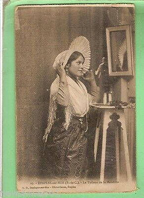 #D. French  Postcard - Young Lady With Bonnet