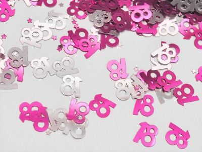 14g 18th Pink Happy Birthday Party Glitz Table Confetti Sprinkles Decorations