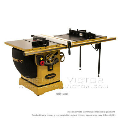 "POWERMATIC PM2000 Tablesaw 50"" Accu-Fence System, Router Lift PM23150RK"