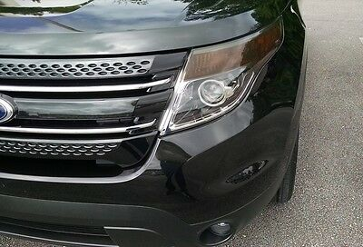 Ford Explorer Front Side Marker Dark Smoke Overlay - Precut turn signal tint