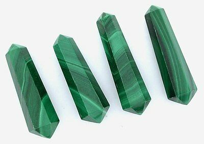 ONE Natural 1 Inch Malachite Double Point Crystal Gem Stone Gemstone 6525