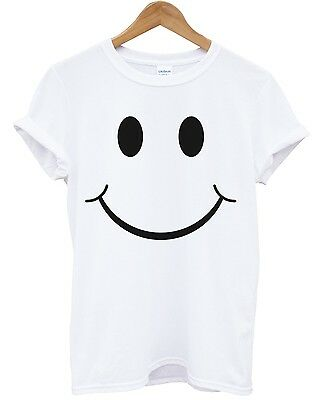 DONT WORRY BE Happy T Shirt POCKET PRINT Men Smiley Face Geek Nerd