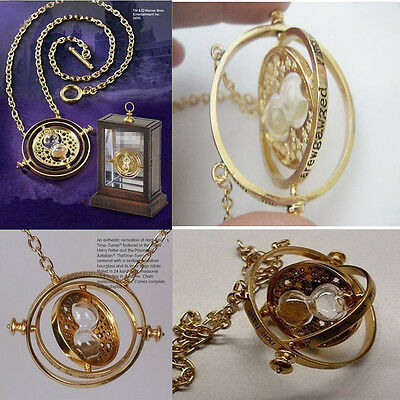 New Hermione Granger Rotating Harry Potter Time Turner Spins Hourglass Necklace