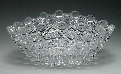 Beautiful ABP Russian Cut Crystal Leaded Glass Oval Serving Bowl