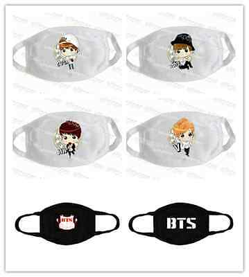 KPOP BTS Mouth Mask Cartoon Jin SUGA J-Hope V Face Respirator Jung Kook Jimin