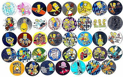 POGS - H-SIMP39 008 Lot de 39 Pogs THE SIMPSON Neufs