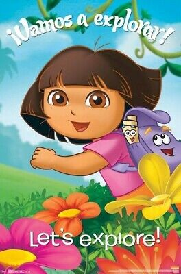 DORA THE EXPLORER ~ VAMOS A EXPLORA 22x34 CARTOON POSTER Nickelodeon Explore
