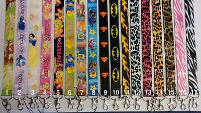 Lanyard for Keys, ID Card, Mobile phone  Choice of Cartoon and Disney Characters