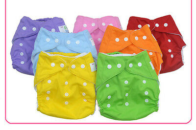 New 5PCS baby infant Adjustable Reusable Cloth Diaper Nappies Lot Washable