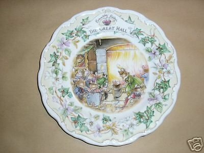 BRAMBLY HEDGE THE GREAT HALL PLATE