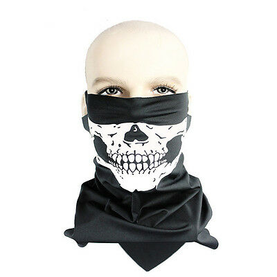 Bicycle Ski Skull Half Face Mask Ghost Scarf Multi Use Neck Warmer Windproof New