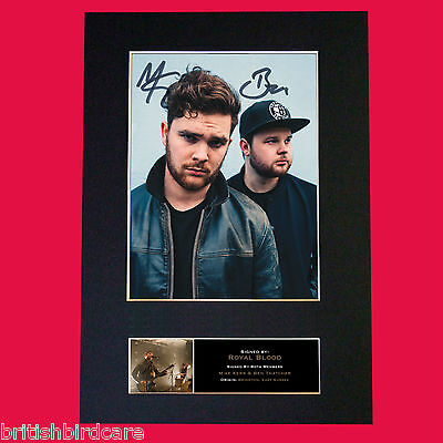 ROYAL BLOOD Signed Autograph Mounted Photo Repro A4 Print 523