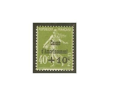 "FRANCE STAMP TIMBRE N° 275 "" C . A . +10c S.40c SEMEUSE OLIVE "" NEUF xx TTB"