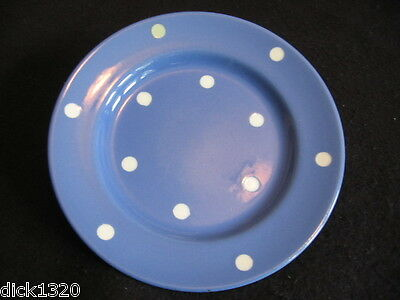 "VINTAGE T.G.GREEN,CHURCH GRESLEY ""BLUE DOMINO' 7"" DESSERT PLATEc.50's"