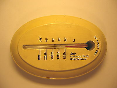 Taylor Baby's Bath Thermometer Vintage 1919 With Baby Image