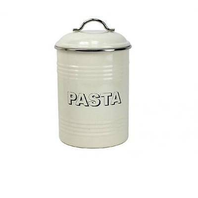 Vintage Retro Home Cream Collection Tin Pasta Storage Canister LP24825